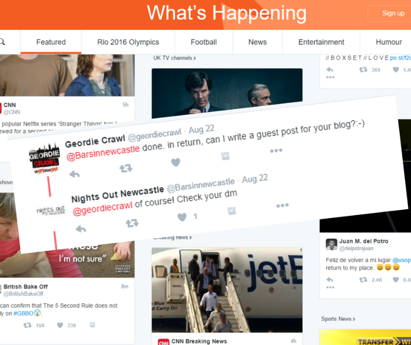 using twitter for blogger outreach
